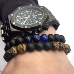 Tiger's Eye Beaded Bracelet For Men