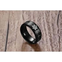 Engraved Heartbeat Stainless Steel Ring