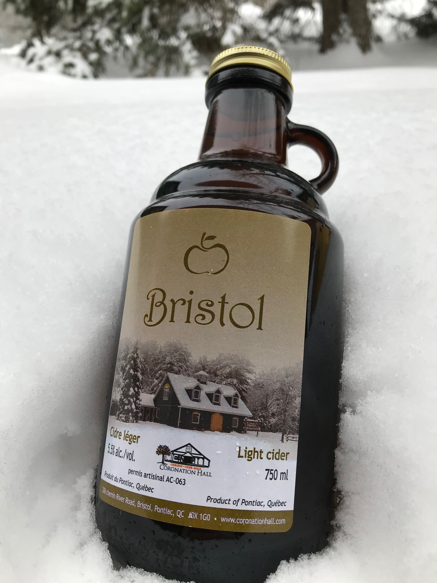 Bristol Light Cider. 5.5% al/vol. 750mL (Growler)