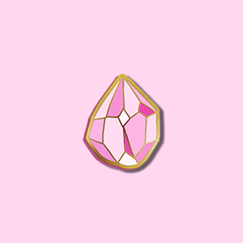 PINK CRYSTAL PIN