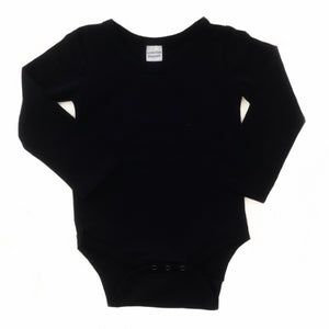 Bodysuit - Dark Navy with Plain Long Sleeve
