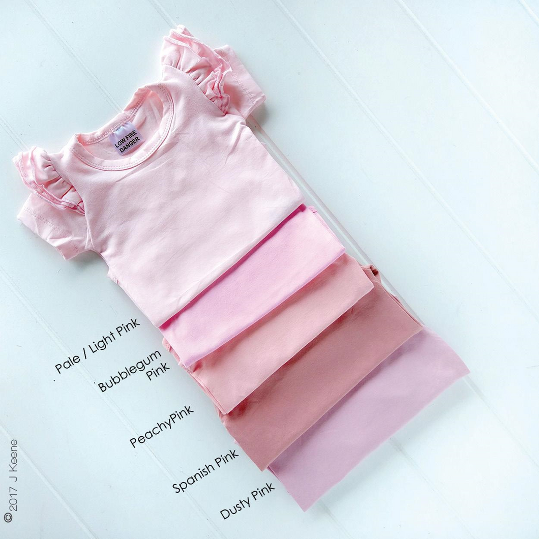 Bodysuit - Bubblegum Pink with Plain Long Sleeve