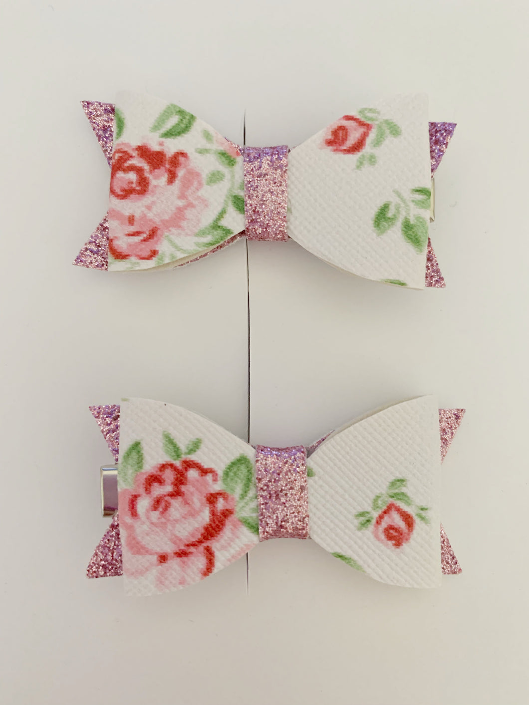 Piggy Tail Bows - Floral