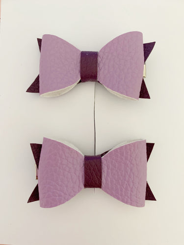 Piggy Tail Bows - Purple