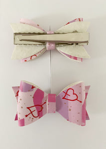 Piggy Tail Bows - Hearts