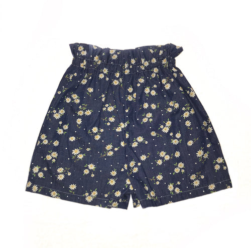 Girls Shorts (extended waist) - Denim look with sunflower print