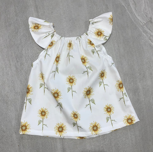 Girls Seaside Top - Sunflower