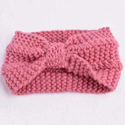 Knitted Headband ShopRely Pink Bow