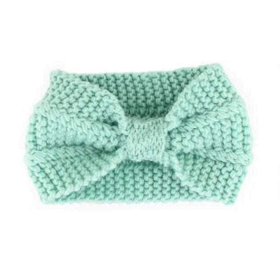 Knitted Headband ShopRely Green Bow