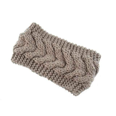 Knitted Headband ShopRely Khaki light