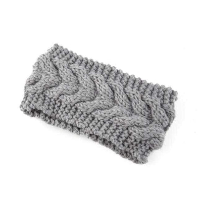 Knitted Headband ShopRely Gray light