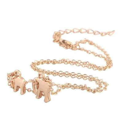 Necklace Elephants Jewelry ShopRely Gold United States