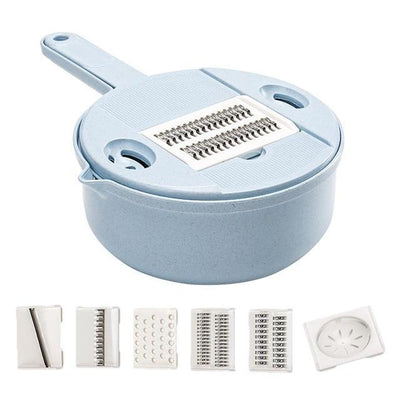 Nixon Slice - 9-in-1 Food Slicer Graters ShopRely Blue