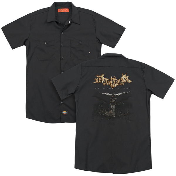 Batman Arkham Knight - City Watch(Back Print) Adult Work Shirt