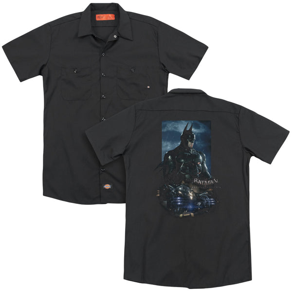 Batman Arkham Knight - Batmobile(Back Print) Adult Work Shirt