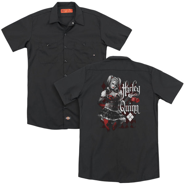 Batman Arkham Knight - Dice(Back Print) Adult Work Shirt
