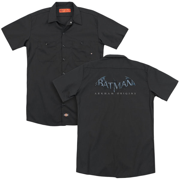 Batman Arkham Origins - Logo (Back Print) Adult Work Shirt