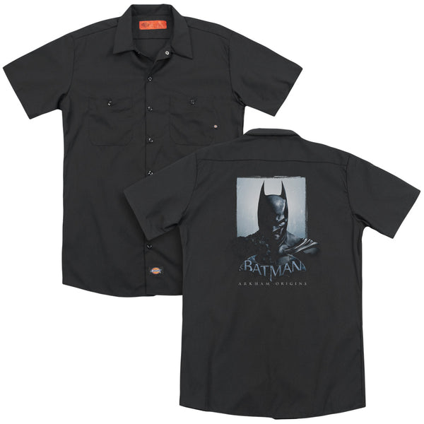 Batman Arkham Origins - Two Sides(Back Print) Adult Work Shirt