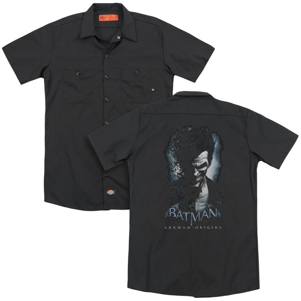 Batman Arkham Origins - Joker (Back Print) Adult Work Shirt
