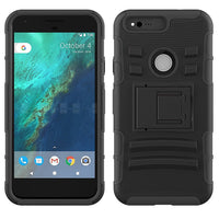Google Pixel XL Armor Belt Clip Holster Case Cover Black