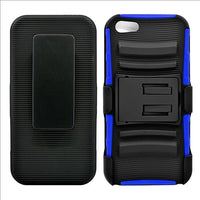 IPhone SE / 5S Armor Belt Clip Holster Case Blue