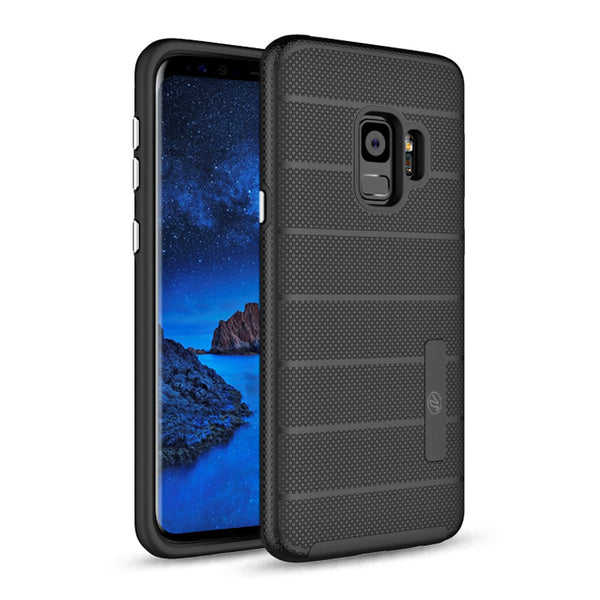 Samsung Galaxy S9 Hybrid Dual Layer TPU Case Cover Black