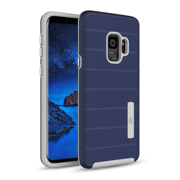 Samsung Galaxy S9 Hybrid Dual Layer TPU Case Cover Blue