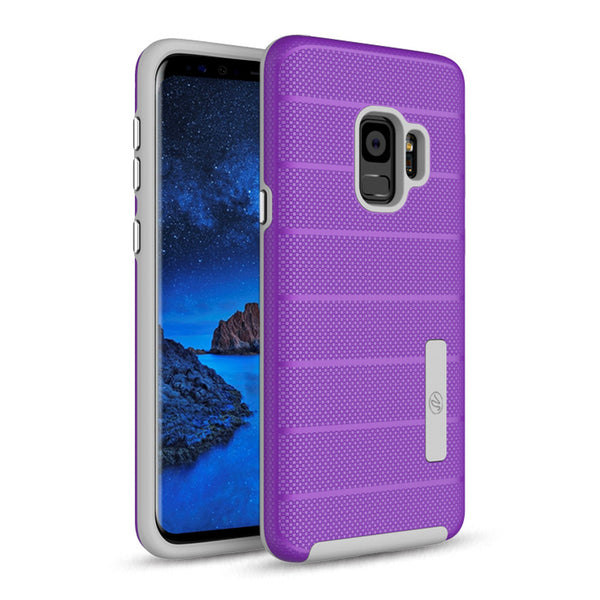 Samsung Galaxy S9 Hybrid Dual Layer TPU Case Cover Purple