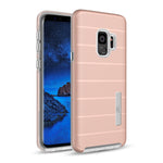 Samsung Galaxy S9 Plus Hybrid Dual Layer TPU Case Cover Rose Gold
