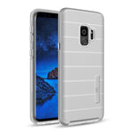 Samsung Galaxy S9 Plus Hybrid Dual Layer TPU Case Cover Silver