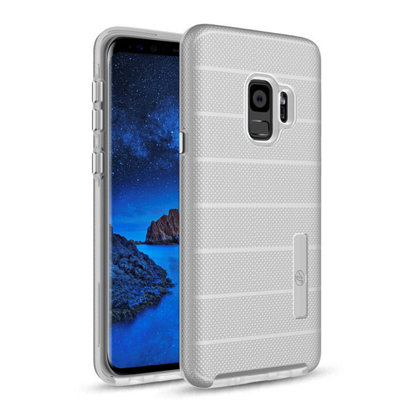 Samsung Galaxy S9 Hybrid Dual Layer TPU Case Cover Silver