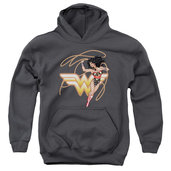 Jla - Glowing Lasso Youth Pull Over Hoodie