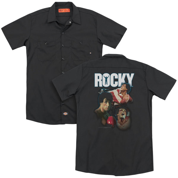 Rocky - I Did It (Back Print) Adult Work Shirt