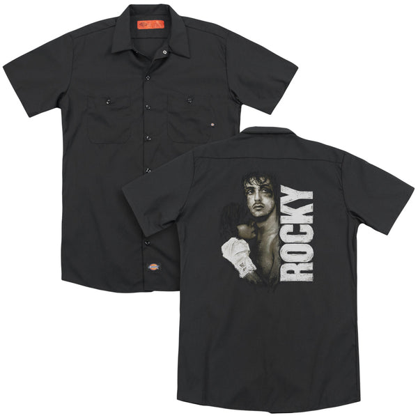 Rocky - Painted Rocky (Back Print) Adult Work Shirt