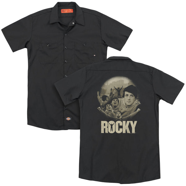 Rocky - Feeling Strong(Back Print) Adult Work Shirt