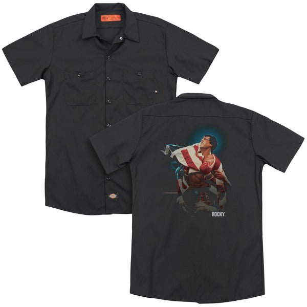 Rocky - Victory (Back Print) Adult Work Shirt