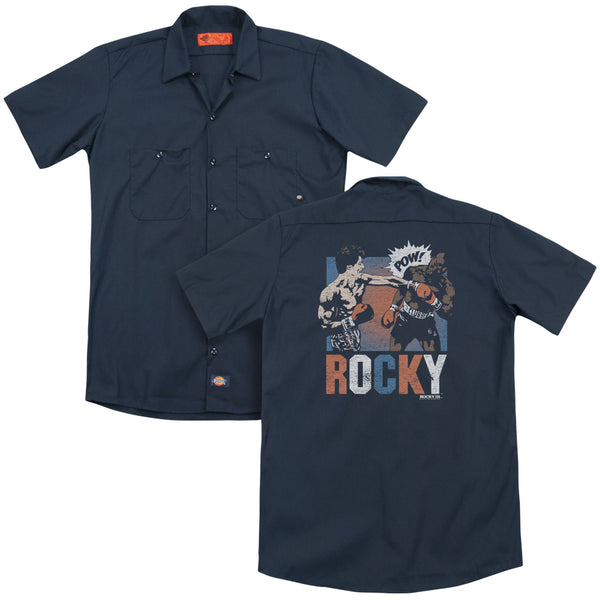 Rocky - Rocky Pow(Back Print) Adult Work Shirt