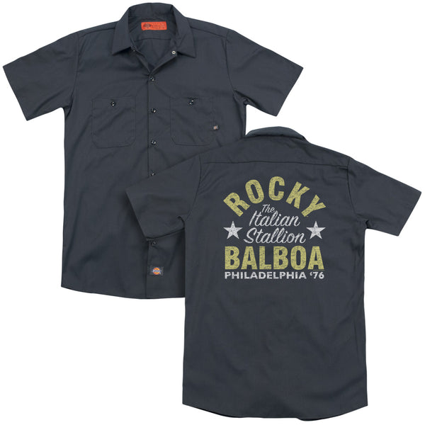 Rocky - Rocky Philly (Back Print) Adult Work Shirt