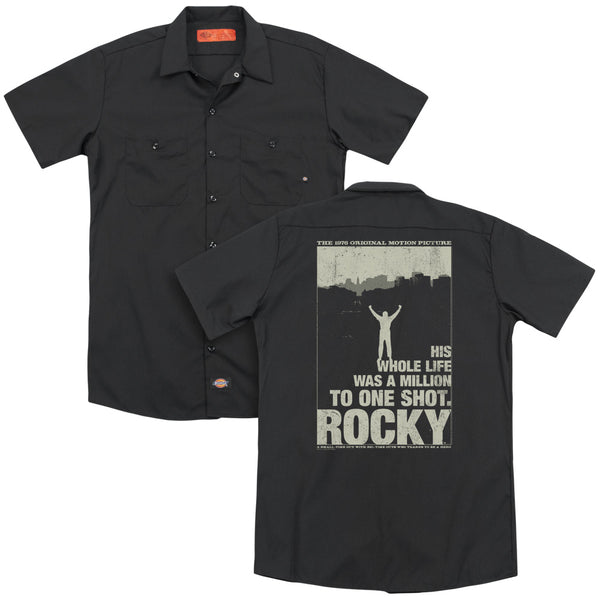 Rocky - Silhouette (Back Print) Adult Work Shirt