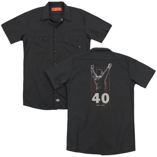 Rocky - Stars (Back Print) Adult Work Shirt