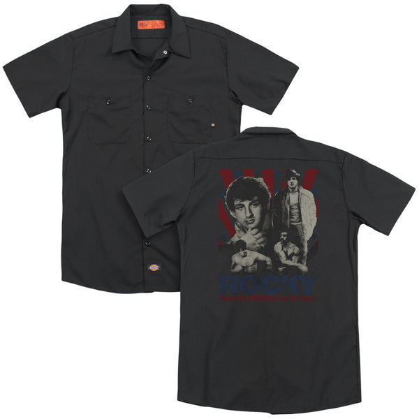 Rocky - Going The Distance (Back Print) Adult Work Shirt