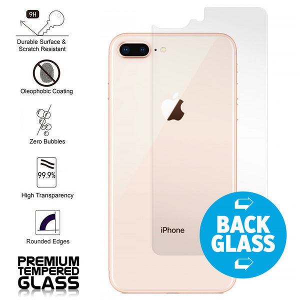 IPhone 8 Plus / IPhone 7 Plus Rear/Back Coverage Tempered Glass Protector Clear