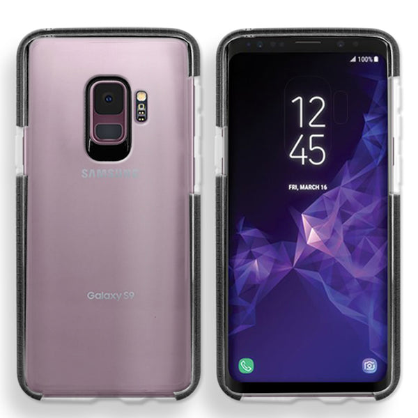 Samsung Galaxy S9 Full Body Hybrid Crystal TPU Transparent Bumper Case Cover Black