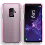 Samsung Galaxy S9 Full Body Hybrid Crystal TPU Transparent Bumper Case Cover Pink