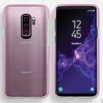 Samsung Galaxy S9 Plus Full Body Hybrid Crystal TPU Transparent Bumper Case Cover Pink