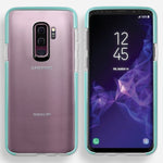 Samsung Galaxy S9 Plus Full Body Hybrid Crystal TPU Transparent Bumper Case Cover Teal