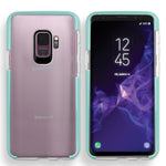 Samsung Galaxy S9 Full Body Hybrid Crystal TPU Transparent Bumper Case Cover Teal