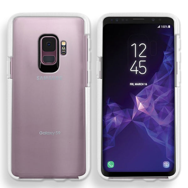Samsung Galaxy S9 Full Body Hybrid Crystal TPU Transparent Bumper Case Cover White