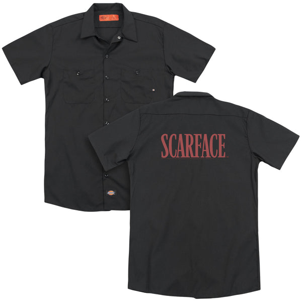 Scarface - Logo(Back Print) Adult Work Shirt