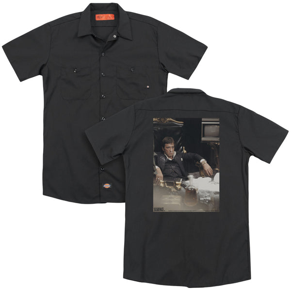 Scarface - Sit Back(Back Print) Adult Work Shirt
